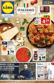 Catalogue Lidl en cours, Plaisir de l'Italie , Page 1