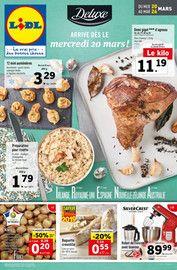 Catalogue Lidl en cours, Deluxe arrive dès le mercredi 20 mars, Page 1
