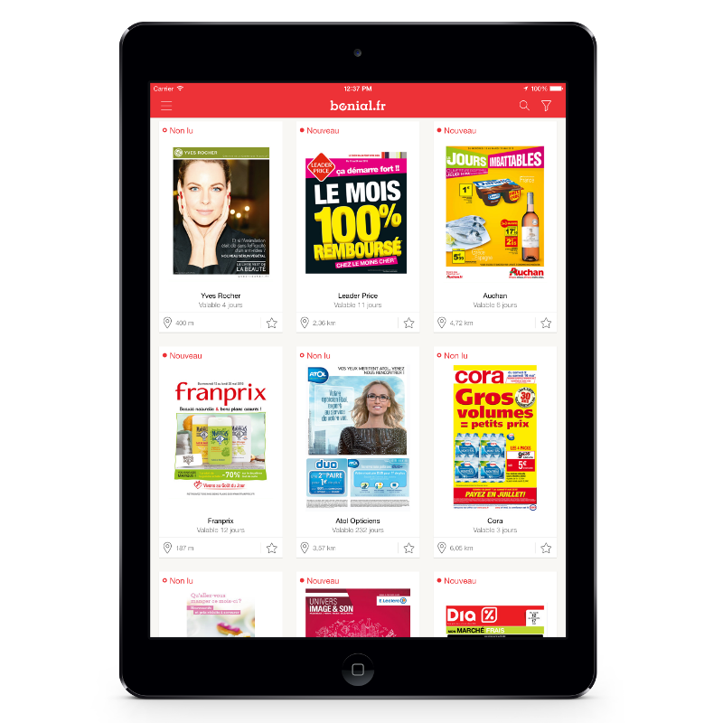 Bonial - application gratuite pour iPad