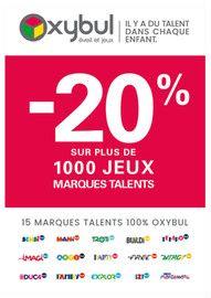 Catalogue Oxybul en cours, -20% sur plus de 1000 jeux marques talents, Page 1
