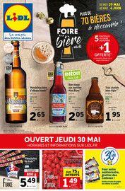 Catalogue Lidl en cours, Foire à la bière, Page 1