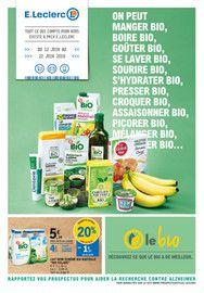 Catalogue E.Leclerc en cours, Le Bio, Page 1