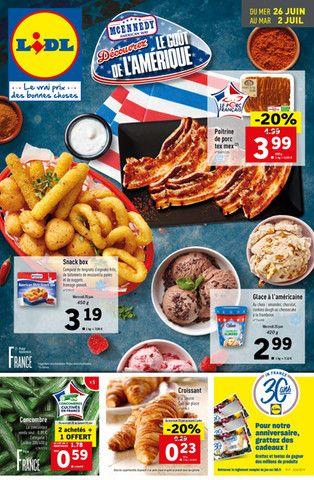 Catalogue Lidl en cours, Découvrez le goût de l'Amérique, Page 1