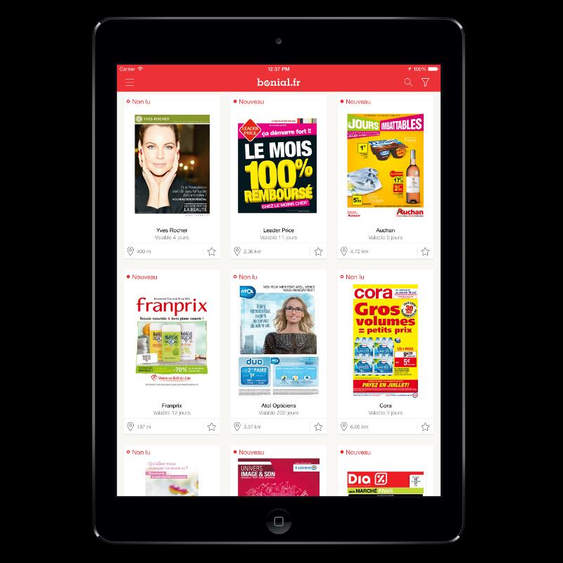 Bonial - application gratuite pour iPad